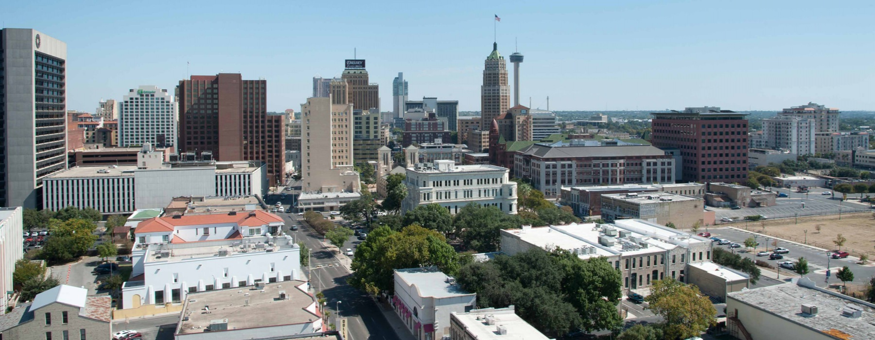 roof top view of downtown San Antonio